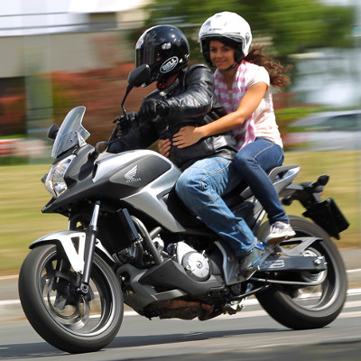 A 2013 Honda NC700X DCT motorcycle with an automatic dual clutch transmission